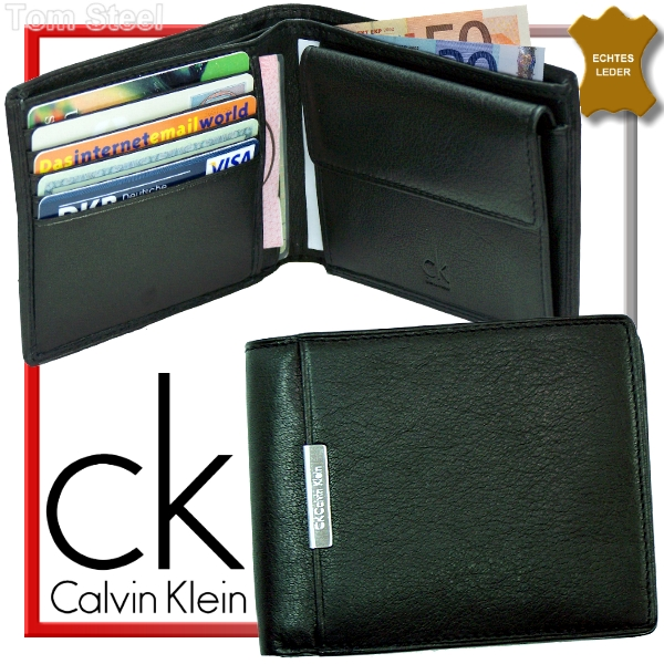calvin klein geldb rse geldbeutel ck portmonee schwarz ebay. Black Bedroom Furniture Sets. Home Design Ideas