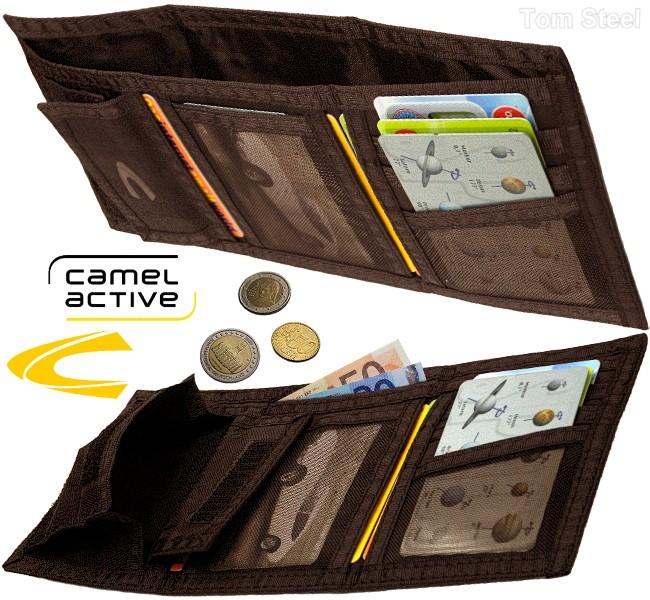 camel active herren geldb rse stoff sportlich leicht portemonnaie geldbeutel neu ebay. Black Bedroom Furniture Sets. Home Design Ideas