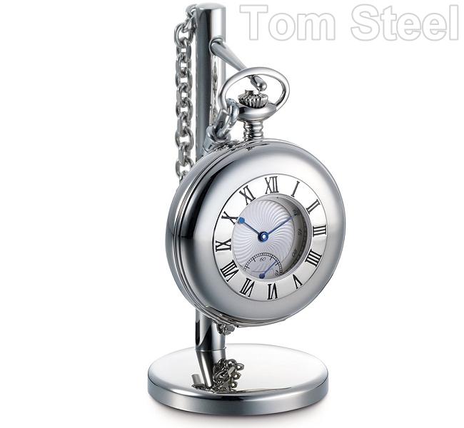 Dalvey acciaio inox orologio da tasca collana supporto - Dalvey orologio da tavolo ...