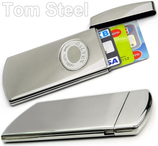 2 tech deluxe kreditkarten etui alu case wallet schwarz
