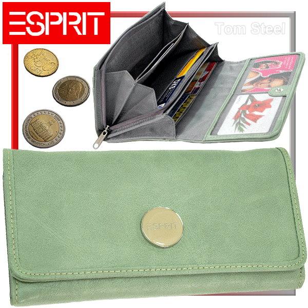 esprit damen geldb rse geldbeutel purse jade green neu ebay. Black Bedroom Furniture Sets. Home Design Ideas