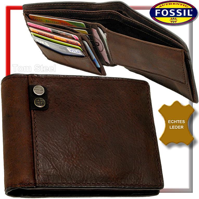 FOSSIL-Herren-Geldboerse-Leder-Geldbeutel-Portemonnaie-Geldtasche-Portmonai-NEU