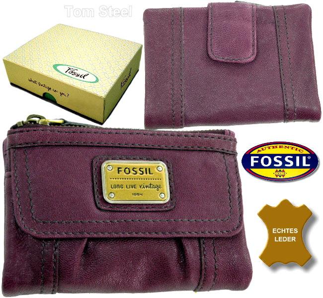 fossil damen geldb rse geldbeutel portemonnaie lila neu ebay. Black Bedroom Furniture Sets. Home Design Ideas