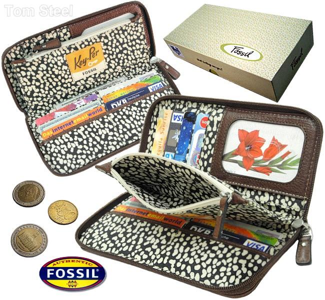 fossil rv damen geldb rse rei verschluss geldbeutel. Black Bedroom Furniture Sets. Home Design Ideas