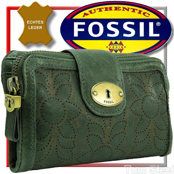 fossil damen geldb rse forest geldbeutel portemonnaie wald gr n geldtasche neu. Black Bedroom Furniture Sets. Home Design Ideas