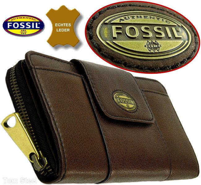 fossil damen geldb rse clutch espresso geldbeutel. Black Bedroom Furniture Sets. Home Design Ideas