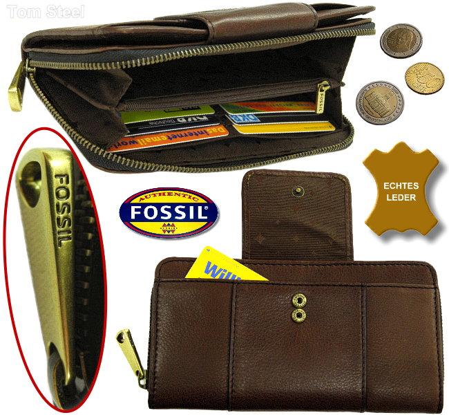 fossil ladies wallet clutch espresso purse wallet purse. Black Bedroom Furniture Sets. Home Design Ideas
