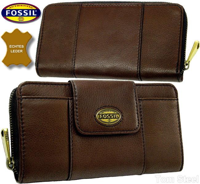 fossil damen geldb rse clutch espresso geldbeutel portemonnaie purse neu ebay. Black Bedroom Furniture Sets. Home Design Ideas