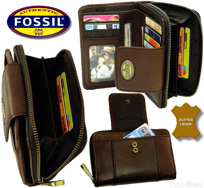 fossil damen geldb rse espresso geldbeutel. Black Bedroom Furniture Sets. Home Design Ideas