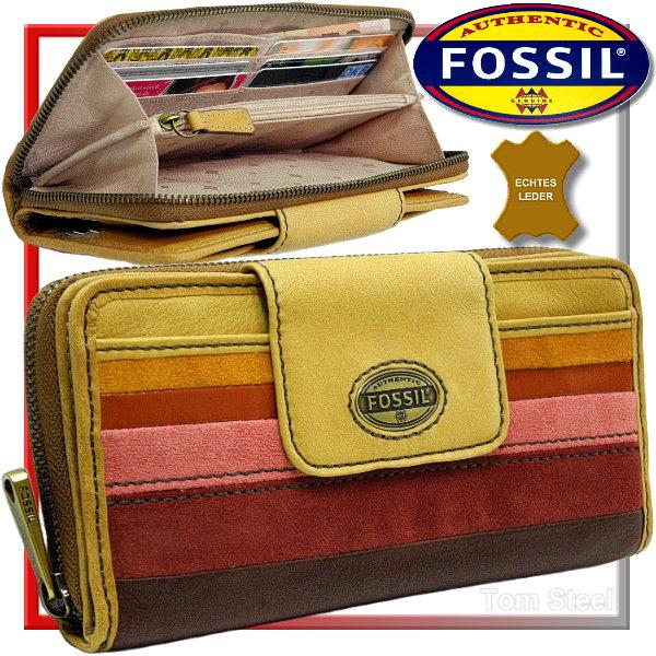 fossil leder b rse damen geldb rse geldbeutel portemonnaie geldtasche gro neu ebay. Black Bedroom Furniture Sets. Home Design Ideas
