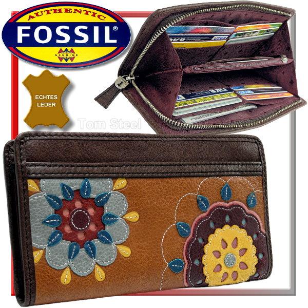 fossil damen geldb rse bl ten bl tter travel wallet. Black Bedroom Furniture Sets. Home Design Ideas
