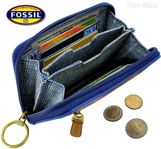 fossil damen geldb rse ladys purse blue portmonee geldbeutel portemonnaie neu ebay. Black Bedroom Furniture Sets. Home Design Ideas