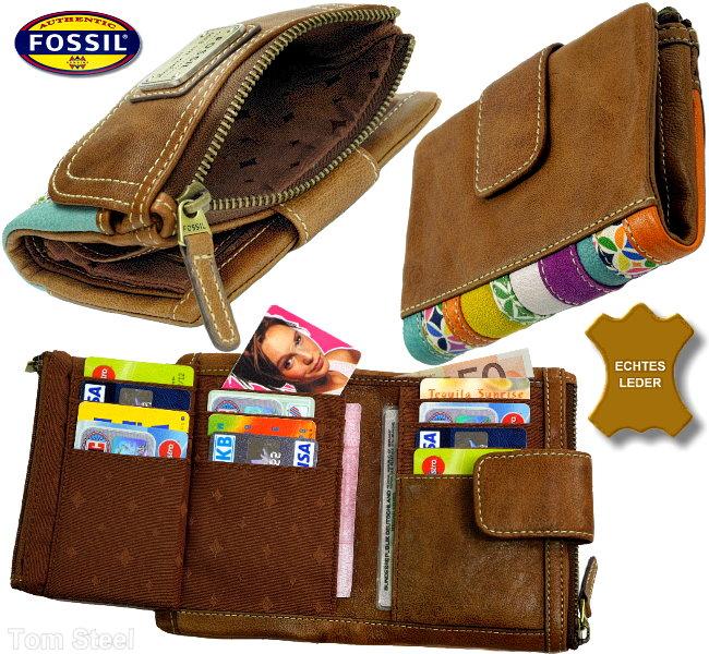 fossil bourse belle cuir femmes porte monnaie porte monnaie portefeuille sac neuf ebay. Black Bedroom Furniture Sets. Home Design Ideas