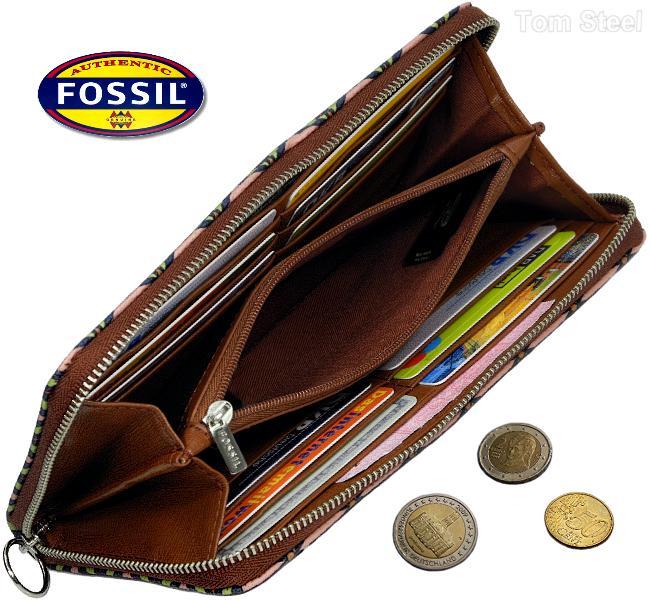 fossil damen geldb rse bunt portemonnaie. Black Bedroom Furniture Sets. Home Design Ideas