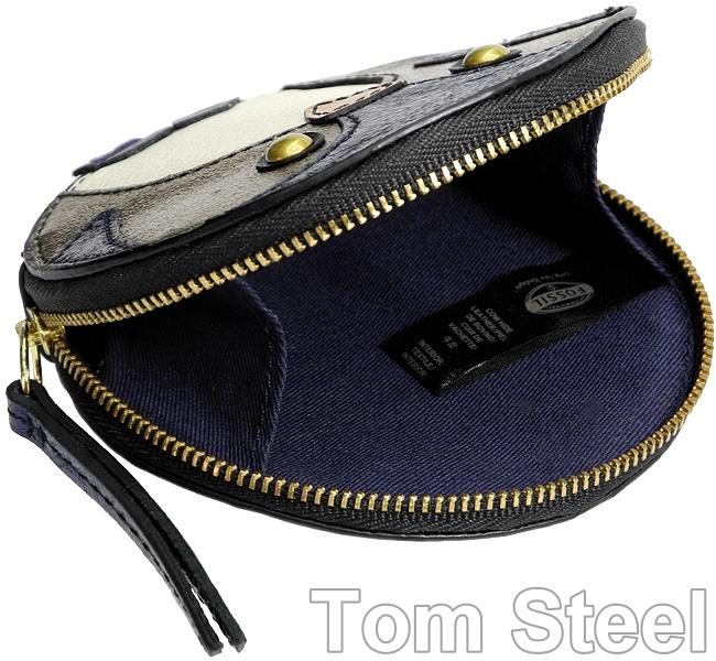 fossil damen geldb rse metallic blau geldbeutel portemonnaie geldtasche neu. Black Bedroom Furniture Sets. Home Design Ideas