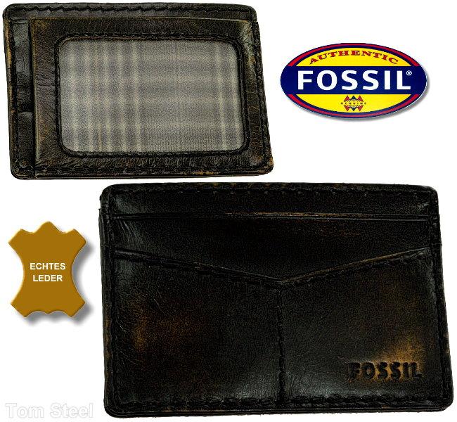 fossil ec karten etui leder card case kredit club visa. Black Bedroom Furniture Sets. Home Design Ideas