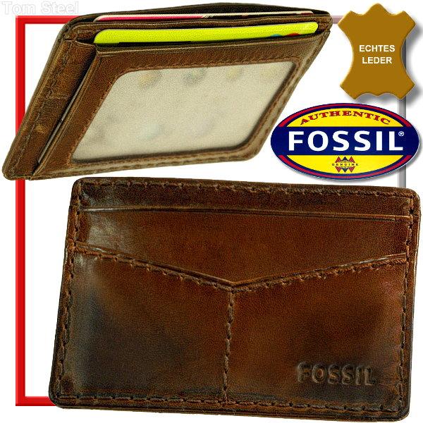 fossil ec karten etui m ppchen leder h lle lederetui visa. Black Bedroom Furniture Sets. Home Design Ideas