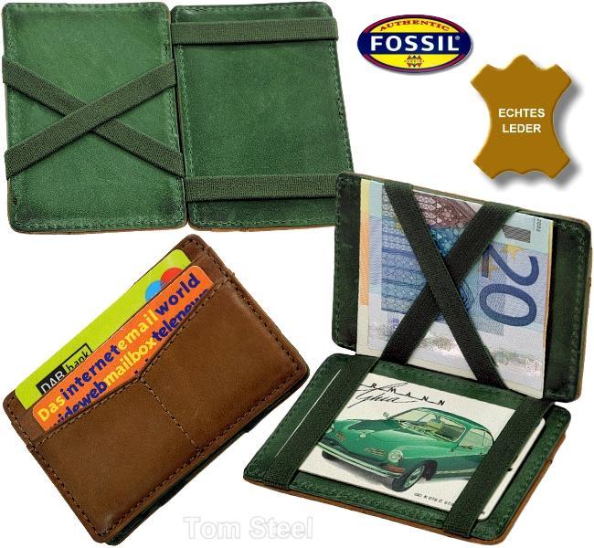 fossil ec kartenetui magic box leder ec club kredit karten etui mappe h lle neu. Black Bedroom Furniture Sets. Home Design Ideas
