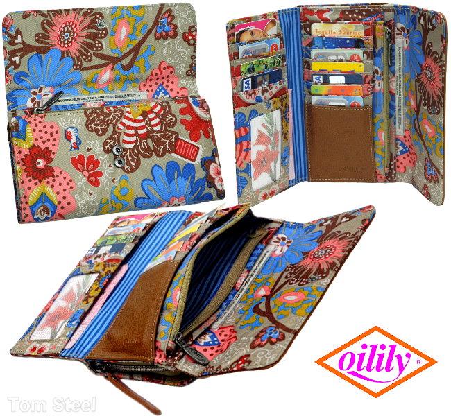 oilily soleil sable color fleurs femmes portefeuille. Black Bedroom Furniture Sets. Home Design Ideas