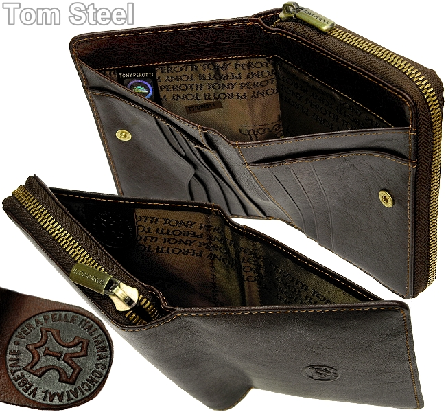 tony perotti turtles logo ladies purse brown purse wallet new. Black Bedroom Furniture Sets. Home Design Ideas